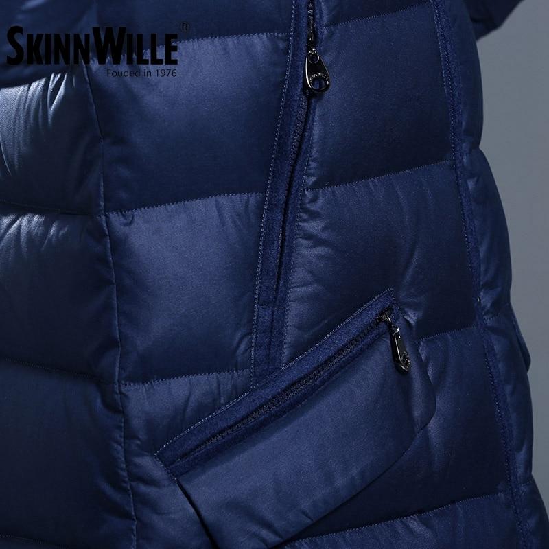 Femme moyen-long manteau épaississant 2017 mode droite ample luxueux manteaux - 4