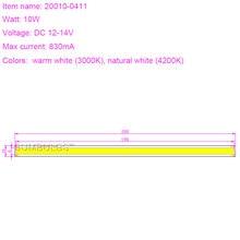 [Sumbulbs] 20010-0411 Chip On Board COB LED Strip Bar Lights 10W 12V for DIY Car Lighting Household Work Lamps 1000LM Warm White