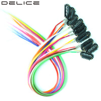 DELICE 50pcs Pack 16inch Pure Color Synthetic Grizzly Feather Clip In Hair Extensions