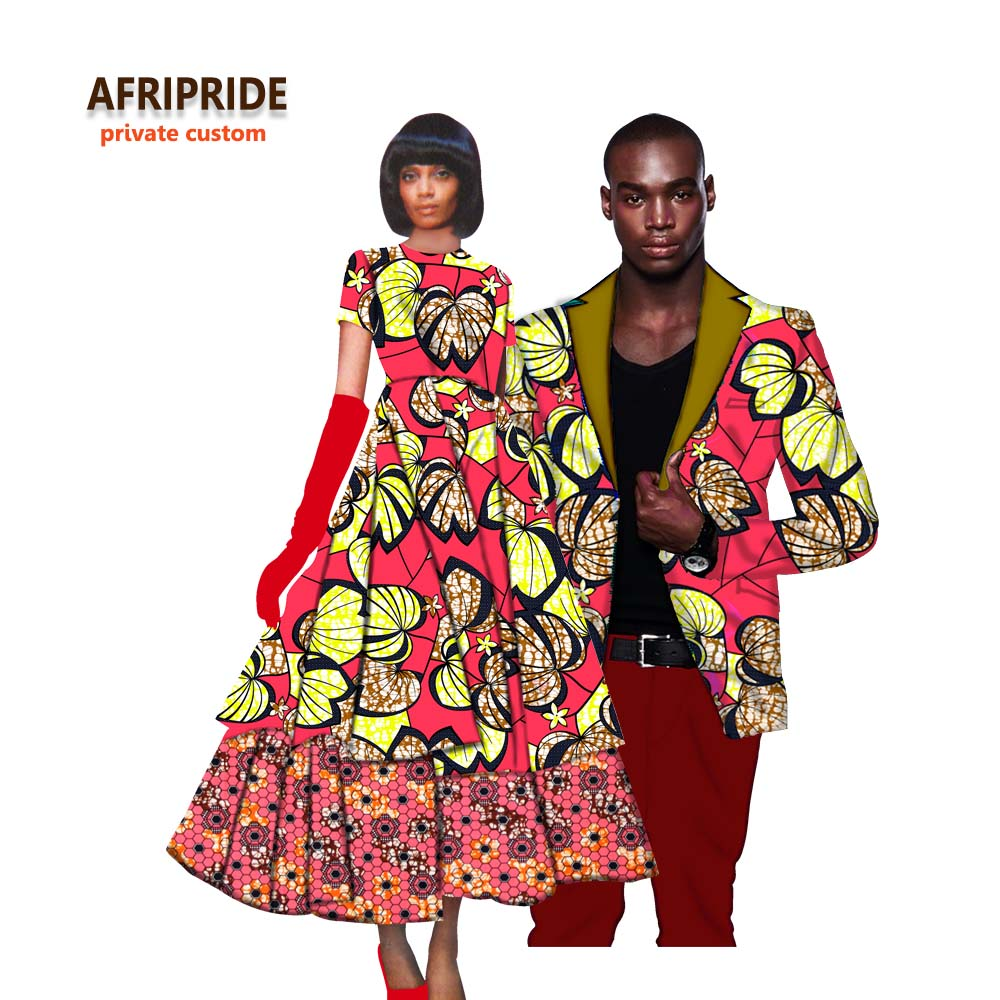 African Dress For Women With Men's Coat African Clothes