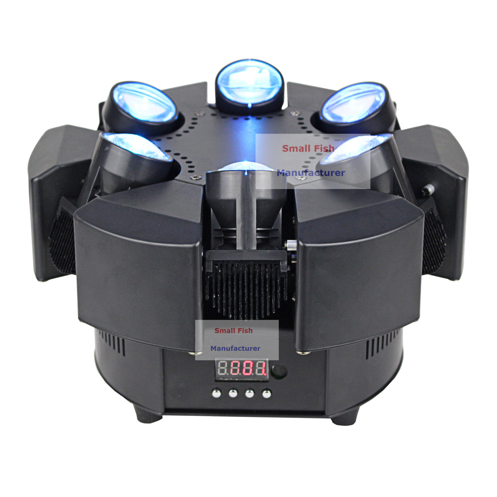 Image 4 - 6X10W RGBW 4IN1 LED Beam Lights 6 Heads Unique Beam Moving Head Strobe Lights DMX 17/38 Channel Professional Dj Bar Party Lights-in Stage Lighting Effect from Lights & Lighting