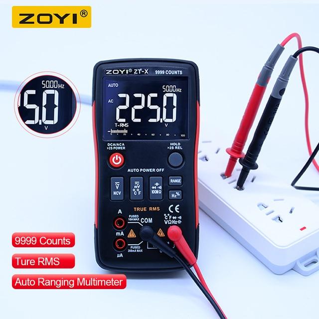 ZOYI ZT-X True-RMS Digital Multimeter Button 9999 Counts With Analog Bar Graph AC/DC Voltage Ammeter Current Ohm Auto/Manual