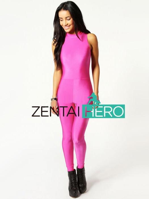 Livraison gratuite DHL nouveau Sexy couleur rose Lycra Spandex body 2016 Sexy femmes justaucorps Zentai Catsuit 15111311