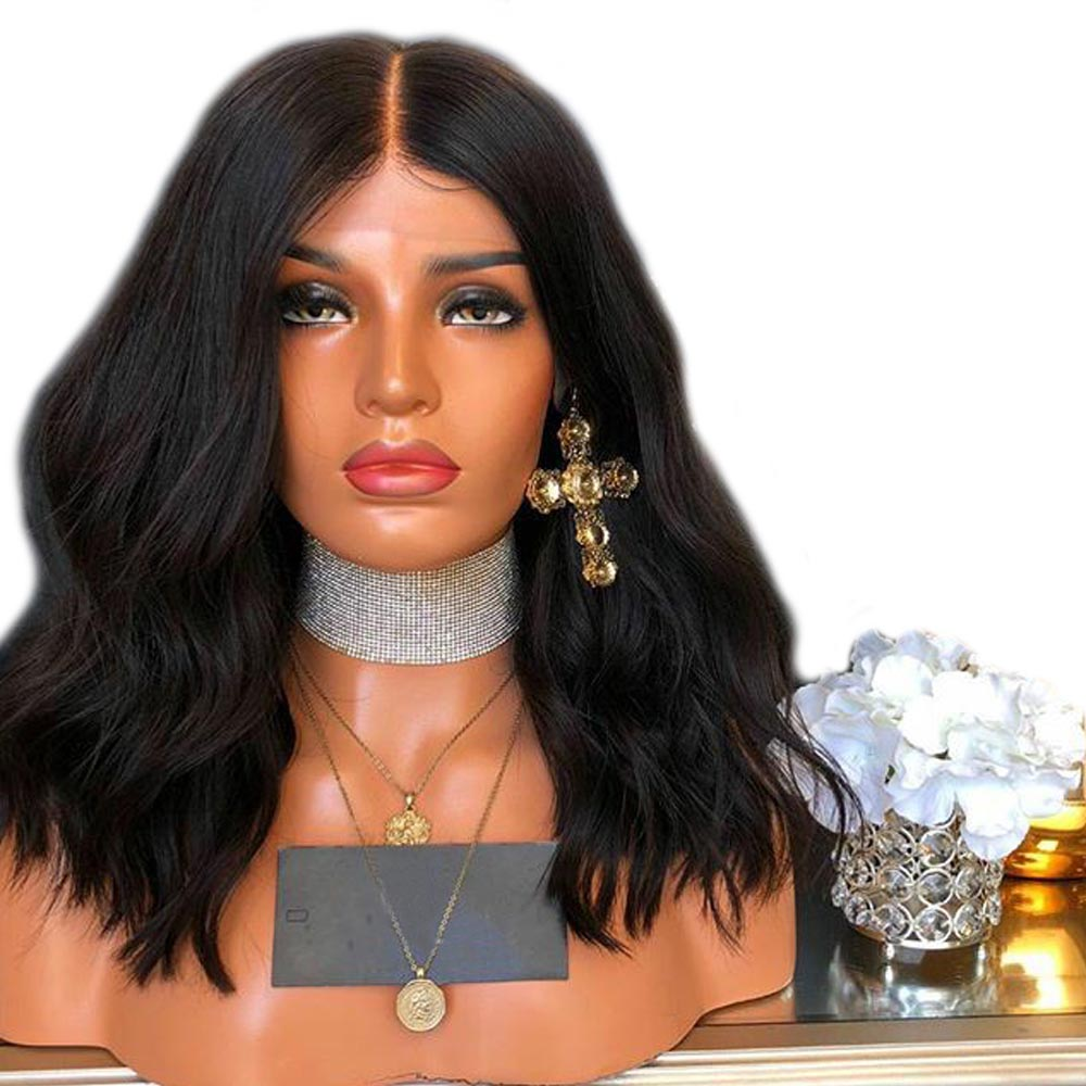 250 Density Lace Front Human Hair Wigs For Women Black Deep Part 13x6 Lace Front Wig