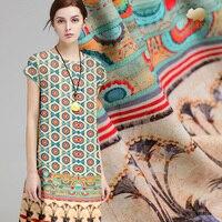 35 mm heavy silk linen fabric high end chinese silk fabric digital printing natural linen fabric wholesale linen cloth