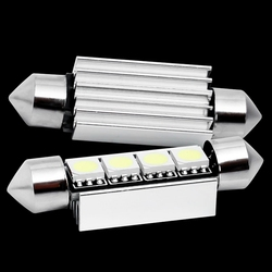 1pc 42mm C5W C10W canbus no error Festoon 4 led 5050 smd Car Licence Plate Light Auto housing Interior Dome lamps Reading Lights