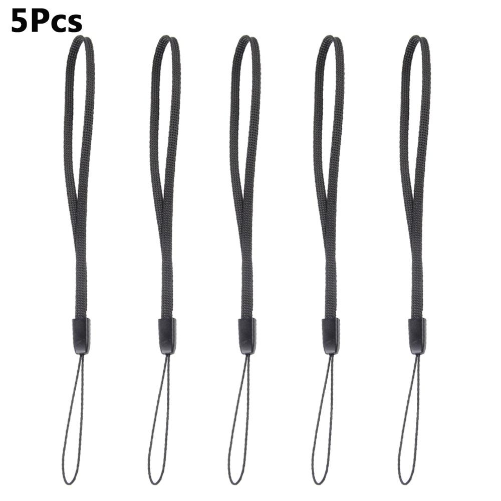 Popular 5Pcs Black LED Flashlight Lanyard Rope Cord Adjustable Wrist Strap MW