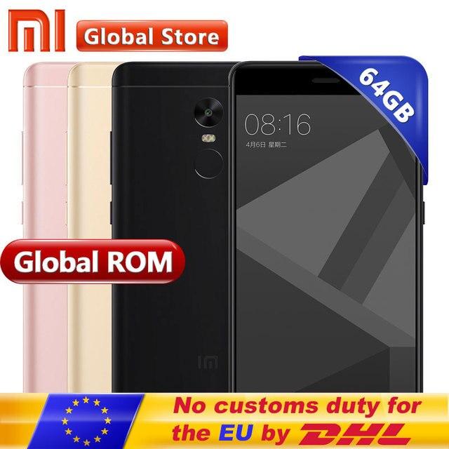 """Оригинальный Xiaomi Redmi Note 4x4x4 ГБ 64 ГБ Redmi Note4X Pro премьер мобильный телефон MTK helio x20 Дека Core 5.5 """"FHD 1920*1080 13.0MP"""