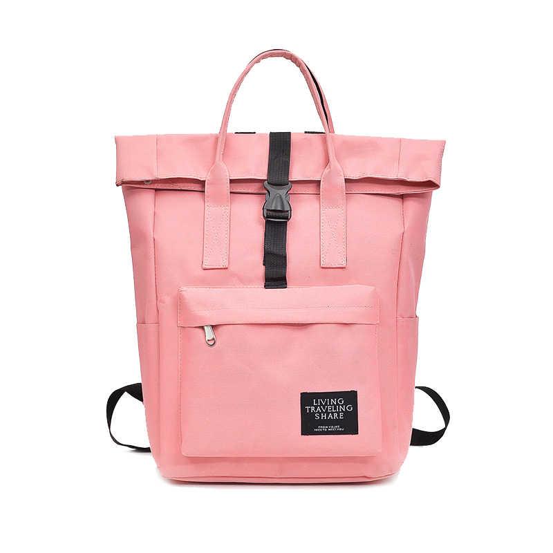 New 2019 Women Girls Backpack Nylon Backpacks Fashion School Bags For Teenagers  Girl mochila feminina Students f72909a61211a