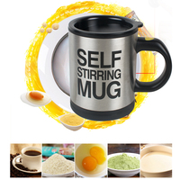 400ml Automatic Self Stirring Mug Coffee Milk Mixing Mug Stainless Steel Thermal Cup Electric Lazy Double