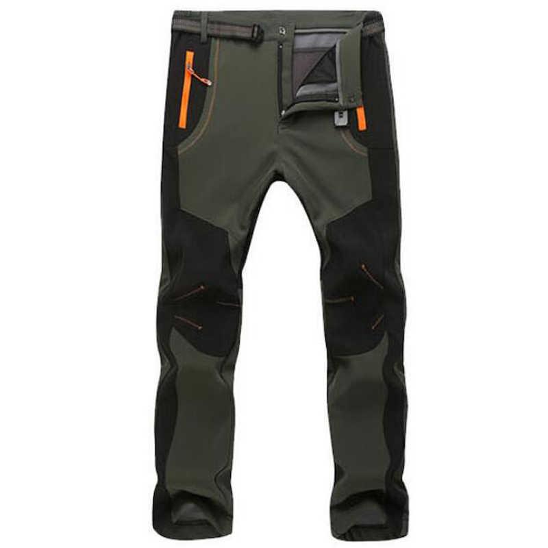 7VSTOHS Pantalones de Senderismo de Invierno Forrados con Forro Polar para Hombre Pantalones de Forro Polar Suave Pantalones c/álidos para Caminar Pantalones Casuales de Escalada