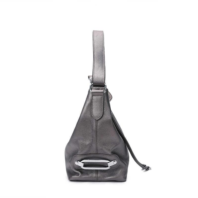 Женская сумка из 100% натуральной кожи ZENCY, белая классическая сумка из воловьей кожи с выдвижной ручкой