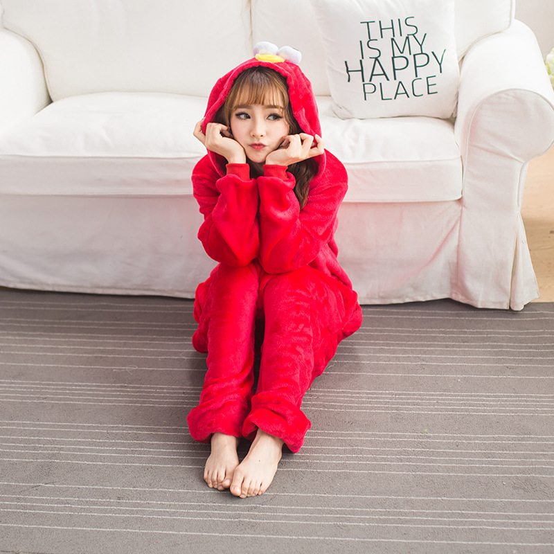 flannel adult pajamas pyjamas women costume cosplay animal onesies cartoon sleepwear halloween pajama onesies red sesame street in pajama sets from womens