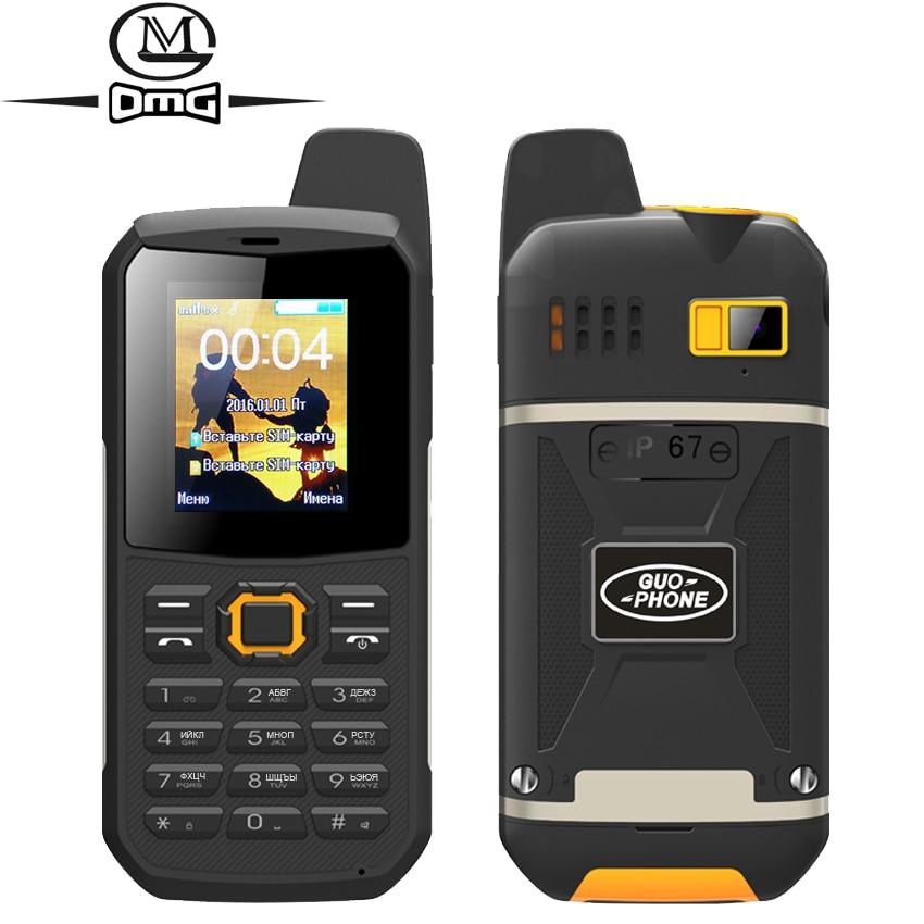Russian keyboard IP67 waterproof shockproof mobile Phone support Intercom flashlight FM Dual SIM PTT cell phones