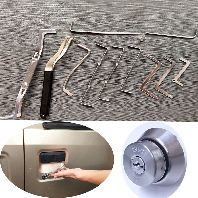Free Shipping 10pcs Locksmith Tools Row Tension Wrench Tools Stainless Stell High Quality антенны телевизионные ritmix антенна телевизионная