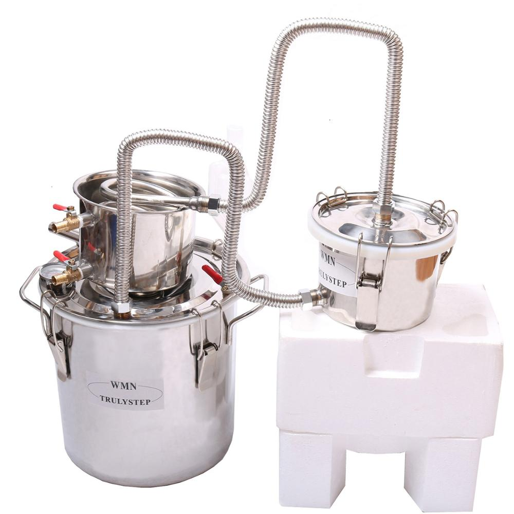 3 hrnce DIY 5 Gal 20 L NOVINKA Alkohol z nerezové oceli Moonshine Still Water Brandy Distiller Boiler Keg WIne Brewing Kit