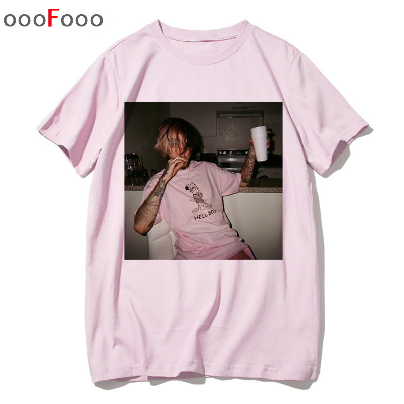 lil peep tシャツラップラッパーヒップホップLil Peep。 Cry Baby TシャツTシャツトップTシャツおかしいTシャツ男性男性/女性プリントФутболка