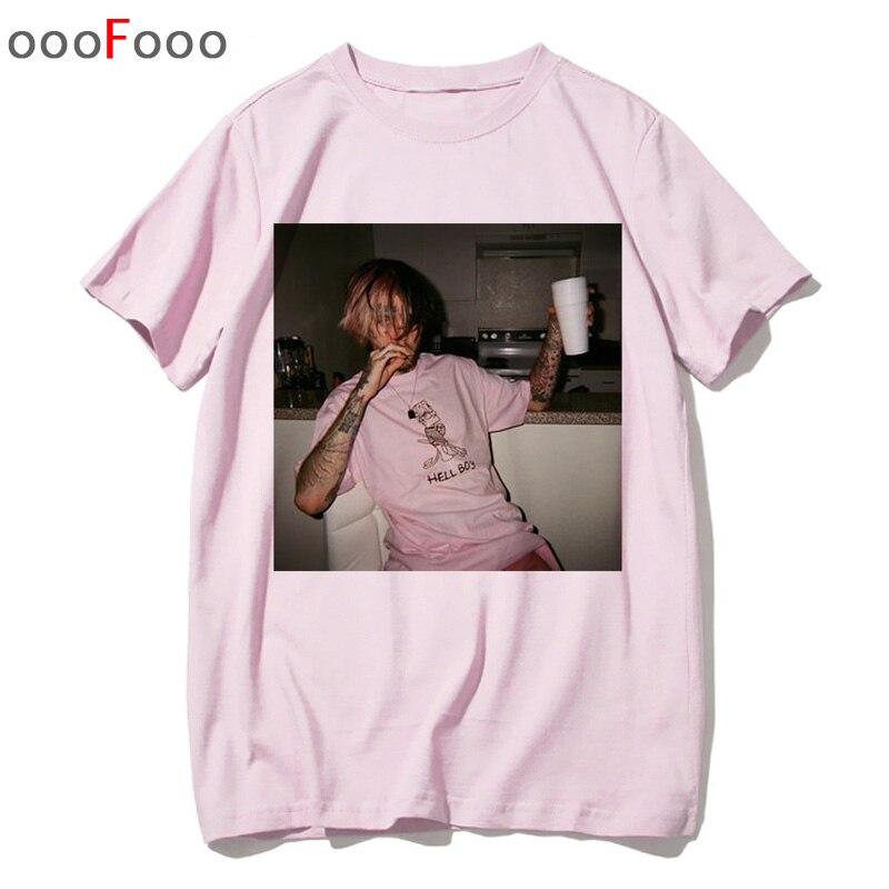 US $5.89 41% OFF|Lil peep t shirt rap raper hip hop Lil Peep. Koszulka dziecięca Cry tshirt koszulka męska funny tshirt męskadamska z