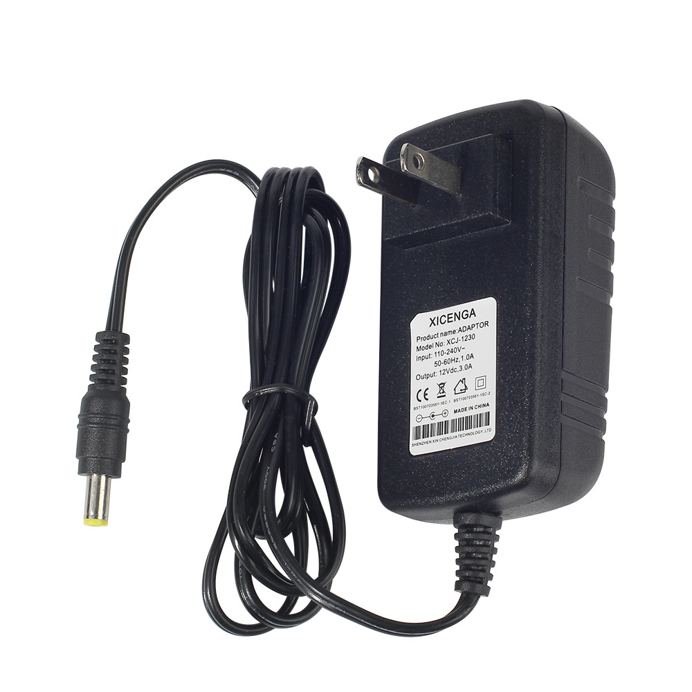 DC12V 3A power adapter for LED Strip Light Bar Light LCD CCTV US/EU plug 12V Power Transformer AC110-240V to DC 12V