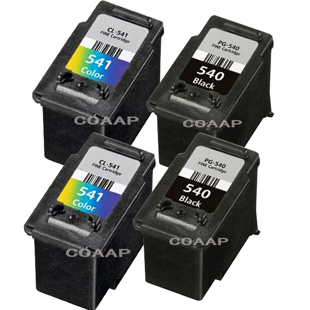 4PK Compatible Canon PG540 CL541 Ink Cartridges PG 540 CL 541 For PIXMA MG3250 MG3255 MG3550