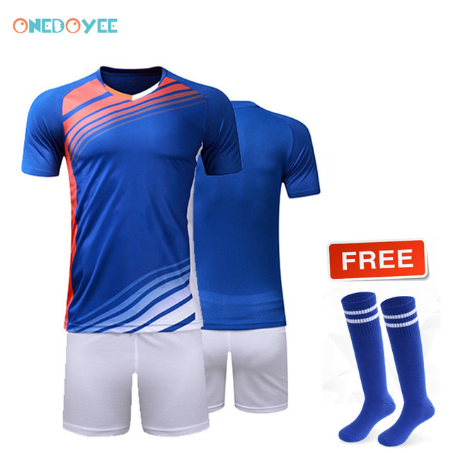 dc295d4d5 Onedoyee Men s Soccer Outfit Boys Football Jerseys Customized Youth Kids  Adults Sports Set Survetement Futbol Training Suits Kit