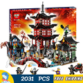 2028 pcs bela 10427 blocos de construção do templo de airjitzu ninja bricks modelo melhores presentes grandes brinquedos compatíveis com lego