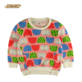 Cartoon Fruit Graffiti Kids Sweatshirts Bobo Choses Baby Clothes Boys Girls T-shirts Pullover Coat Kids Tops Children Clothing