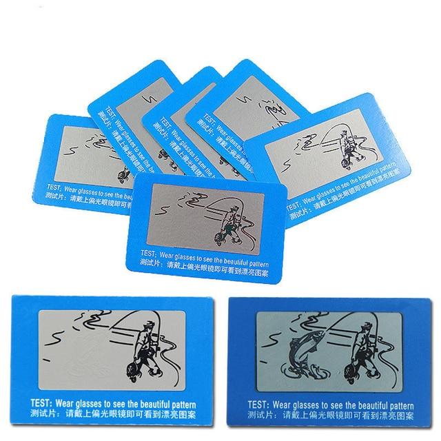 d88c85781 100 pcs TAC Lente Polarizada Cartão de Teste Cartão de Teste para Teste de  Polarização óculos