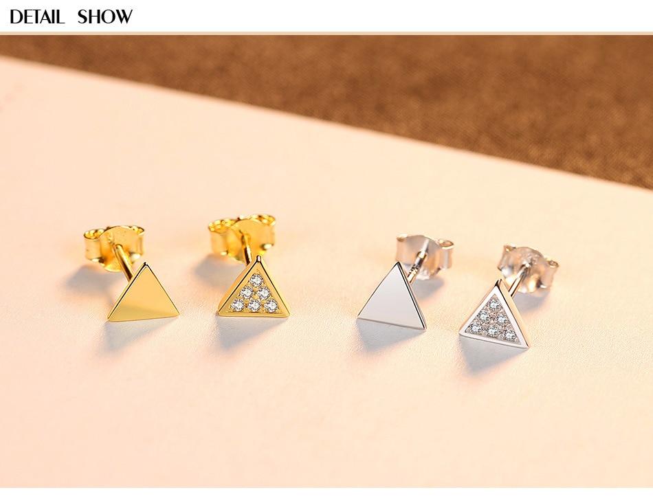 S925 Sterling Silver Earrings Simple Asymmetrical Zircon Triangle Earrings LBM01S925 Sterling Silver Earrings Simple Asymmetrical Zircon Triangle Earrings LBM01