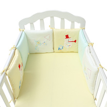 baby infant crib bumpers bed protector kids cot nursery bedding 6 pc set baby christmas bear