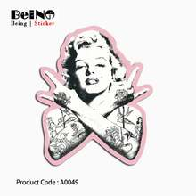 Marilyn Monroe Sexy Goddess Stikcer Waterproof Suitcase Box Laptop Guitar Luggage Skateboard Bicycle Toy Lovely A0049 Stickers(China)