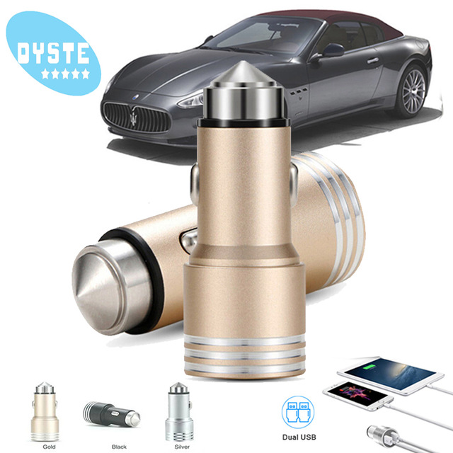 For Doogee S60 mix 2 Dual usb car charger car styling USB Charger phone 2 Port USB Quick universal Car Charger X5 max pro bl7000 in Car Chargers from Cellphones Telecommunications