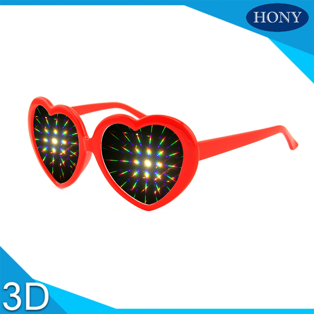 3d Glasses/ Virtual Reality Glasses 20pcs Wholesale Red Heart Frame Diffraction Fireworks Rainbow 3d Rave Prism Glasses For Funny Parties&weddings Activating Blood Circulation And Strengthening Sinews And Bones