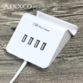 AIXXCO 5V4A Desktop USB Charger 4 Ports Portable Tarvel USB Charger EU US Plug Adapter for iPhone 7 Mobile PhoneSmart Charger