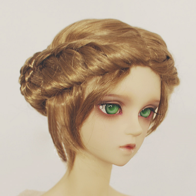 Allaosify 1/3 1/4 1/6 BJD wigs princess braid jerryberry multicolor faux mohair Bjd doll wig bjd hair free shipping allaosify bjd wig 1 3 high temperature wig boy short hair doll wigs with imitation mohair air bangs back bjd hair