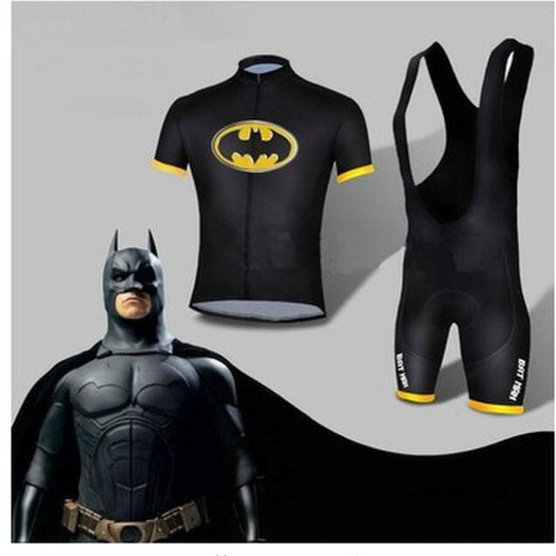 Jersey Cycling-Clothing Bicycle-Short Bike Riding-Wear Batman Breathable Xs-4x Quick-Dry