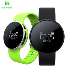 FLOVEME A24 Bluetooth Smart Watch For iOS Android System Flash Waterproof Watches Sedentary Remind Heart Rate Monitor Wristband