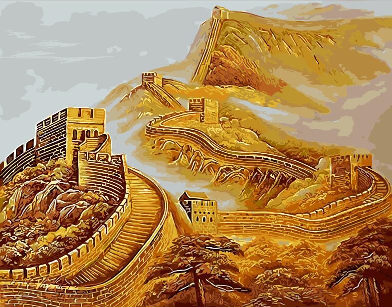Čína velké nástěnné malby ručně bez rámu domácí dekorace olejomalba obrázky podle čísel krajina nástěnné umění výzdoba