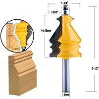 shank כלים 5Pc 8mm Shank מארז & נתבו דפוס Base Bit Set Cnc קו הסכין הניגר קאטר שֶׁגֶם קאטר כלים לעיבוד עץ (5)