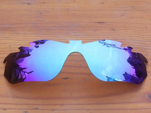 Policarbonato-Gelo Azul Espelho Borda Vented Lentes de Reposição Para óculos RadarLock Óculos De Sol Quadro 100% UVA & Uvb