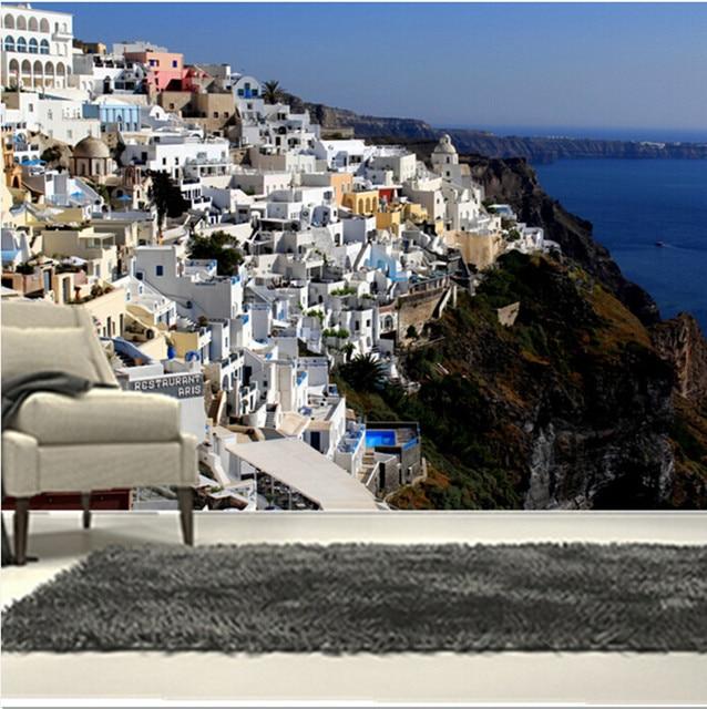 Custom 3d Large Mural 3d Aesthetic Of The Greek Seaside House