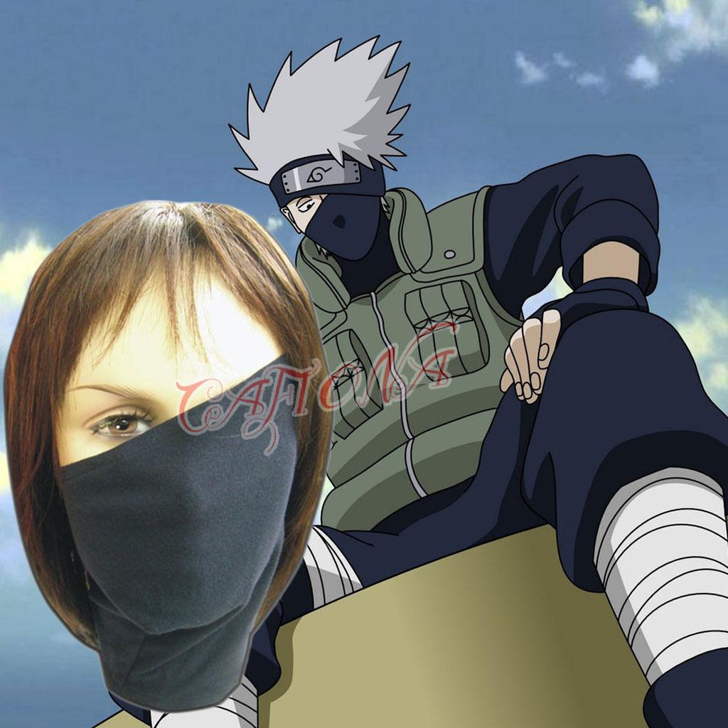 Mtxc Naruto Cosplay Accessories Kakashi Chapeauake Masque Noir