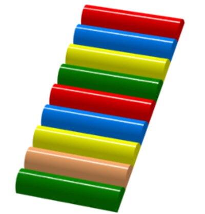 los nios de madera del arco iris suave escalera accesorios zona infantil de juegos para los