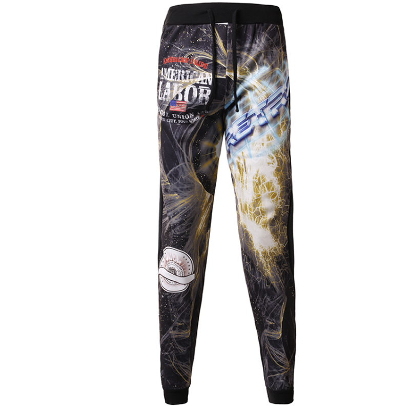 T-bird New Arrived 2017 Brand Casual Joggers 3D Space Star Compression Pants Men Cotton Trousers Calabasas Sweatpants Mens M-XXL