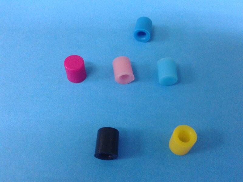 Vernederen 3.8mm 6.8mm 7mm Zachte Siliconen Rubber Collision Cap Bung Plug Siliconen Cap Meubels Ijzer Staaldraad Ronde Cover Cap Beschermen Deksel Modieuze En Aantrekkelijke Pakketten