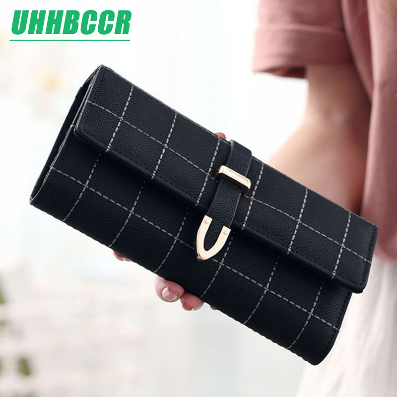 New Women Wallets Female Pu Leather Purses Large Capacity ID Card Holders Ladies High Quality Long Phone Wallet Clutch Carteras