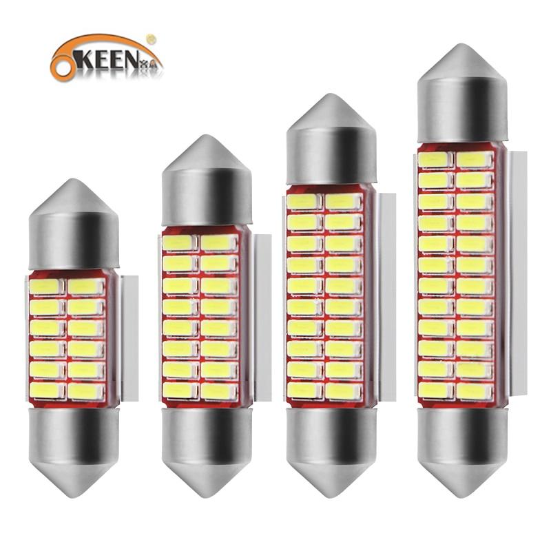 OKEEN Car Styling Festoon 31mm 36mm 39mm 42mm LED Bulb Super Bright 4014 SMD Canbus Error Free Reading Lights Interior Doom Lamp