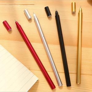 Image 5 - Jonvon Satone 50 шт., креативная гелевая ручка с металлической ручкой, ручки для письма, канцелярские принадлежности, Canetas Material Escolar, канцелярские принадлежности
