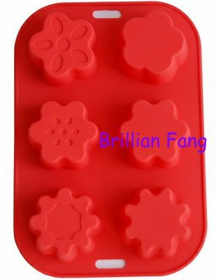 Flowers Christmas Silicone Ice Cude Soap Chocolate Mold New , 50pcs/lot