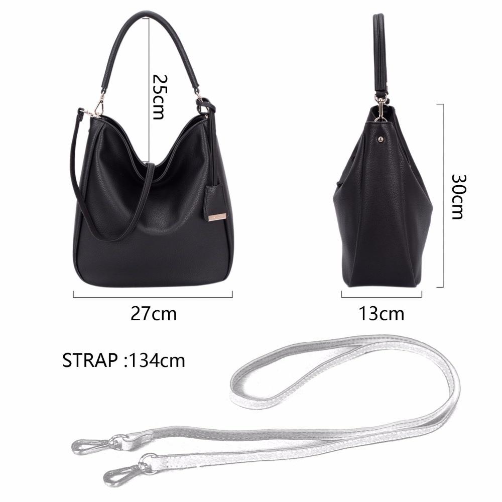 89f583b7044 DAVIDJONES Womens Top Handle Faux Leather Hobo Shoulder Handbags Tote Purse  CM3405-BLACK Christmas presents